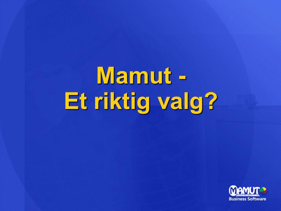 Mamut - Et riktig valg