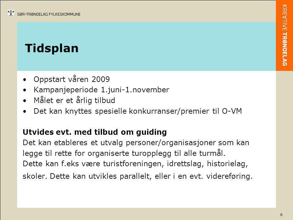 Tidsplan Oppstart våren 2009 Kampanjeperiode 1.juni-1.november