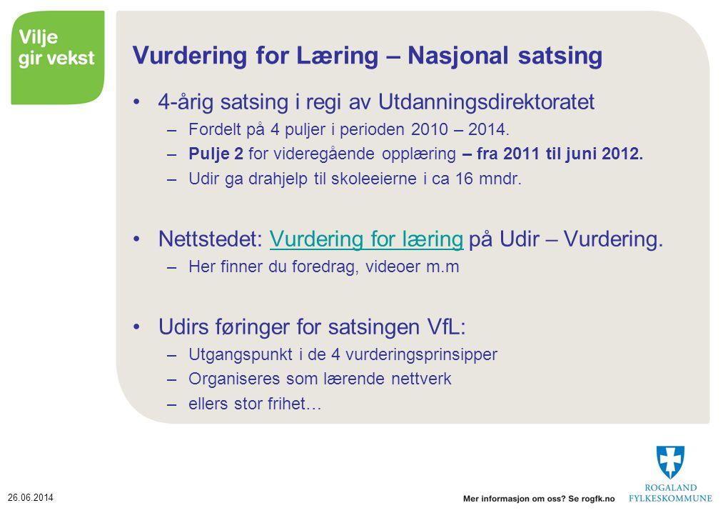 Vurdering for Læring – Nasjonal satsing