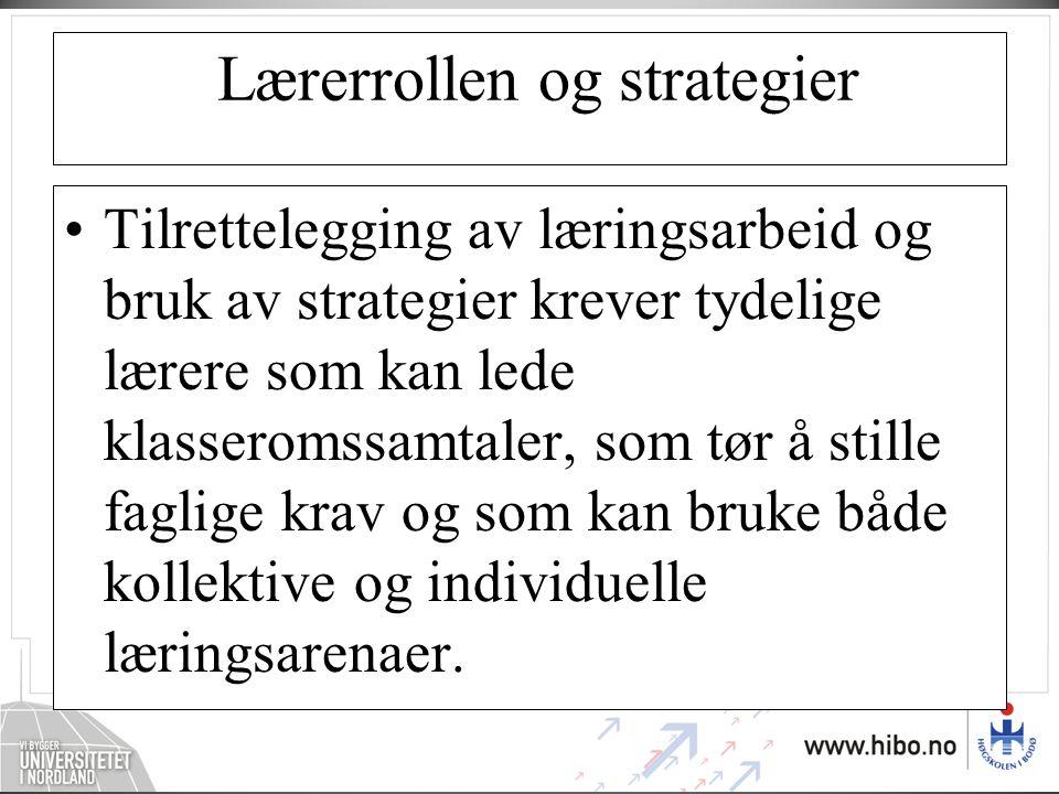 Lærerrollen og strategier