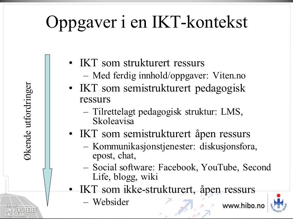 Oppgaver i en IKT-kontekst