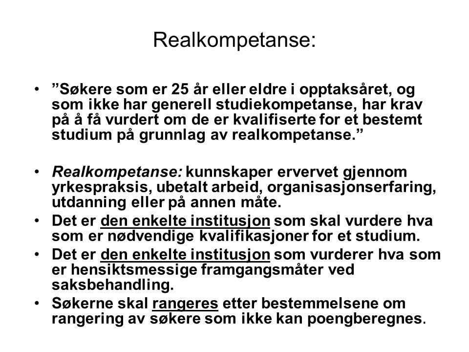 Realkompetanse:
