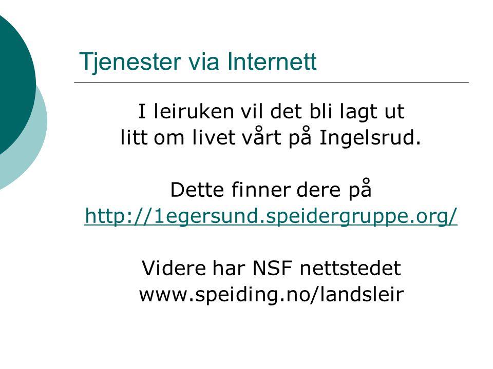 Tjenester via Internett