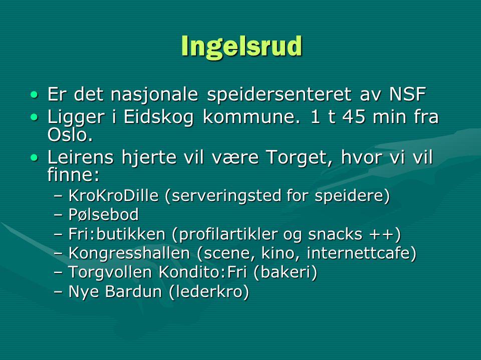 Ingelsrud Er det nasjonale speidersenteret av NSF