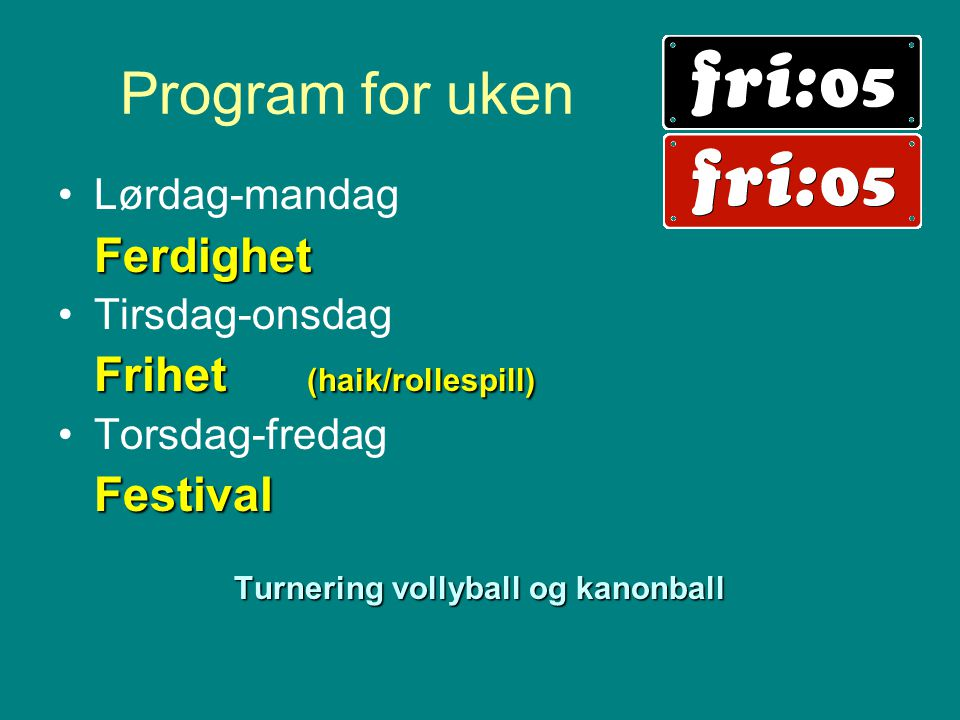 Turnering vollyball og kanonball