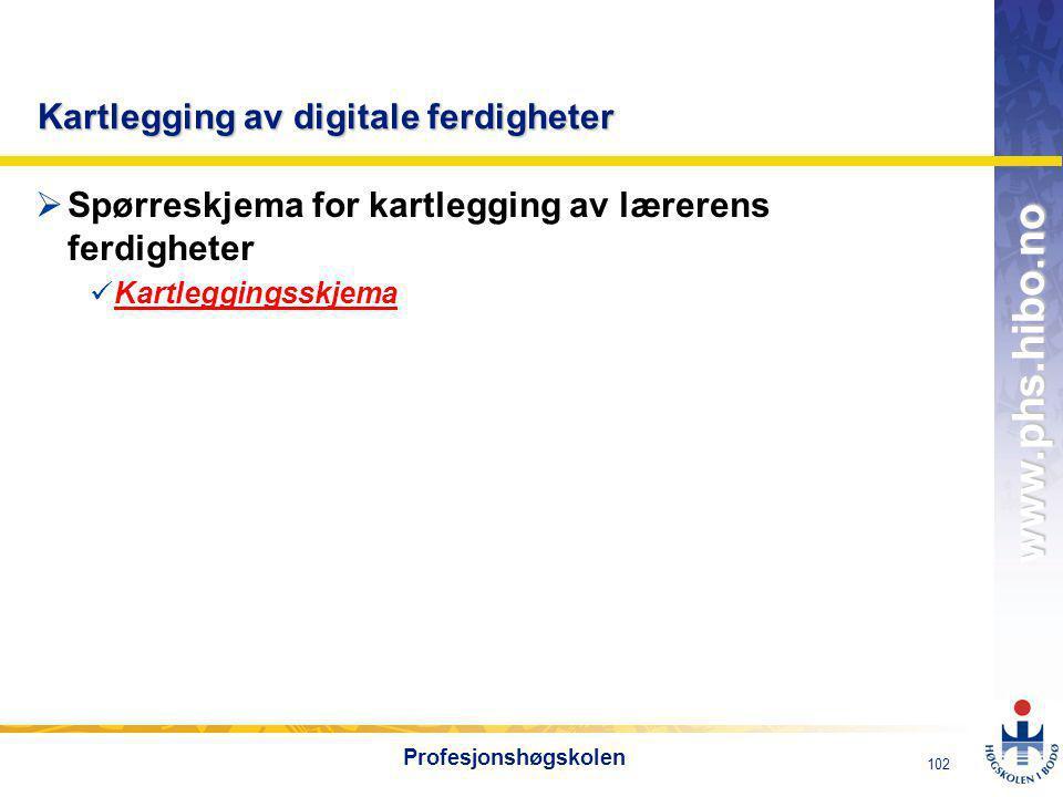 Kartlegging av digitale ferdigheter