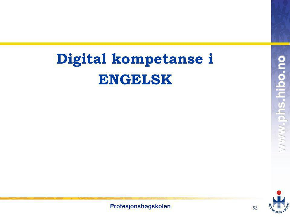 Digital kompetanse i ENGELSK