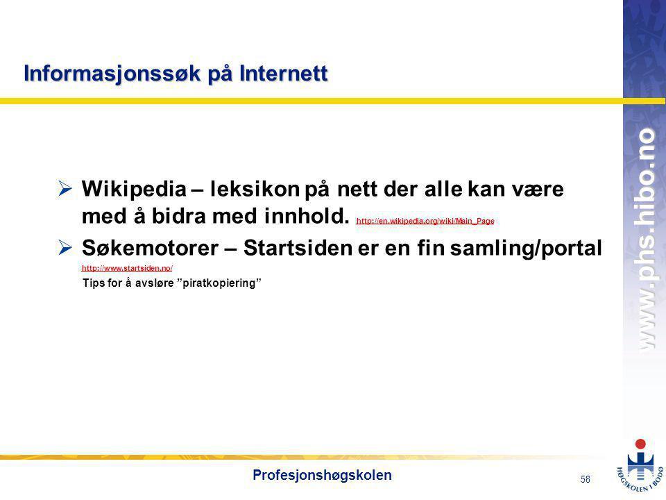 Informasjonssøk på Internett