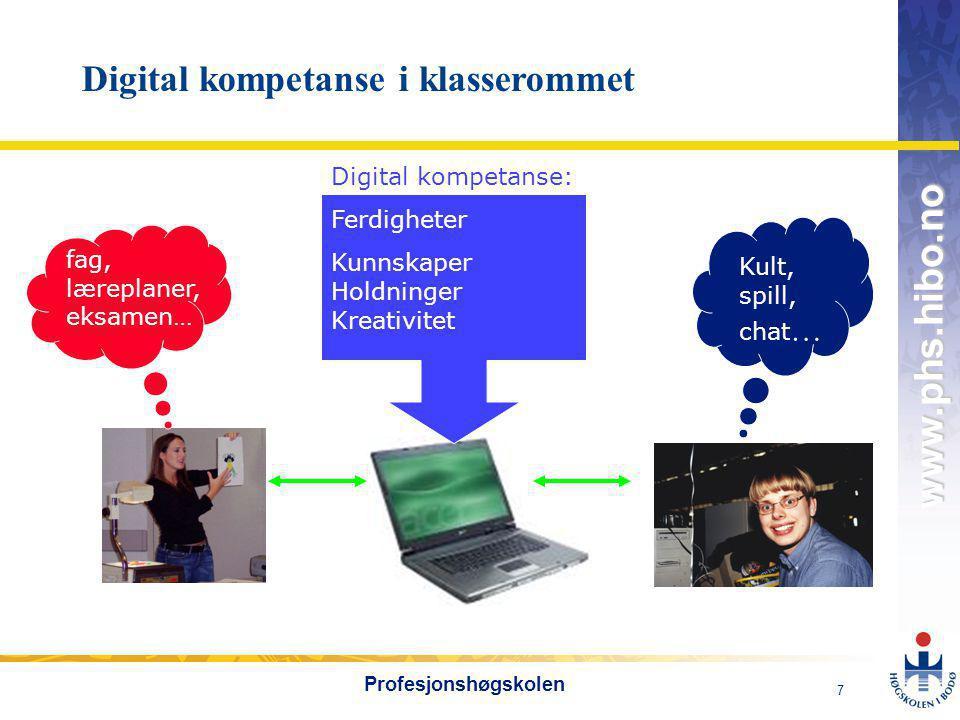Digital kompetanse i klasserommet