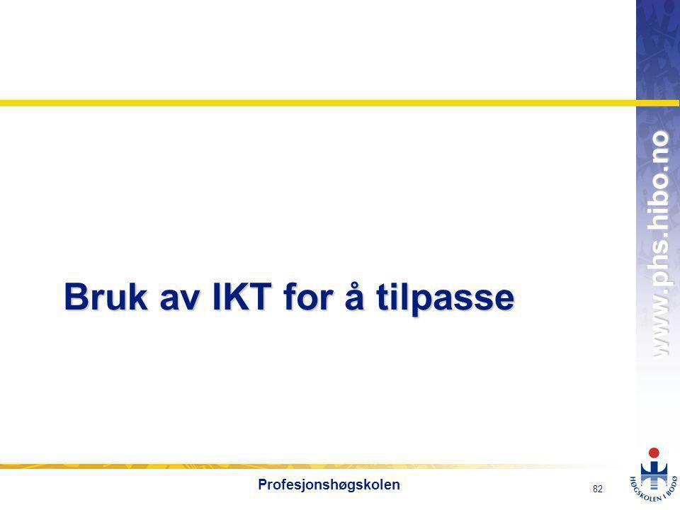 Bruk av IKT for å tilpasse