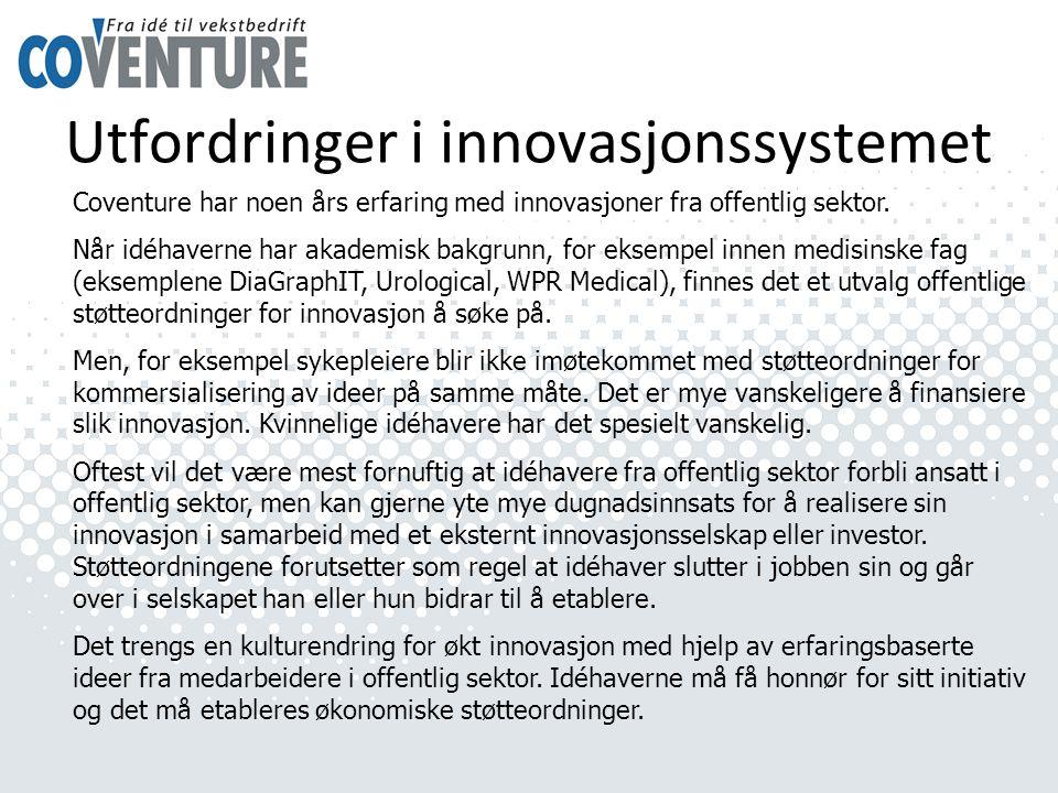 Utfordringer i innovasjonssystemet
