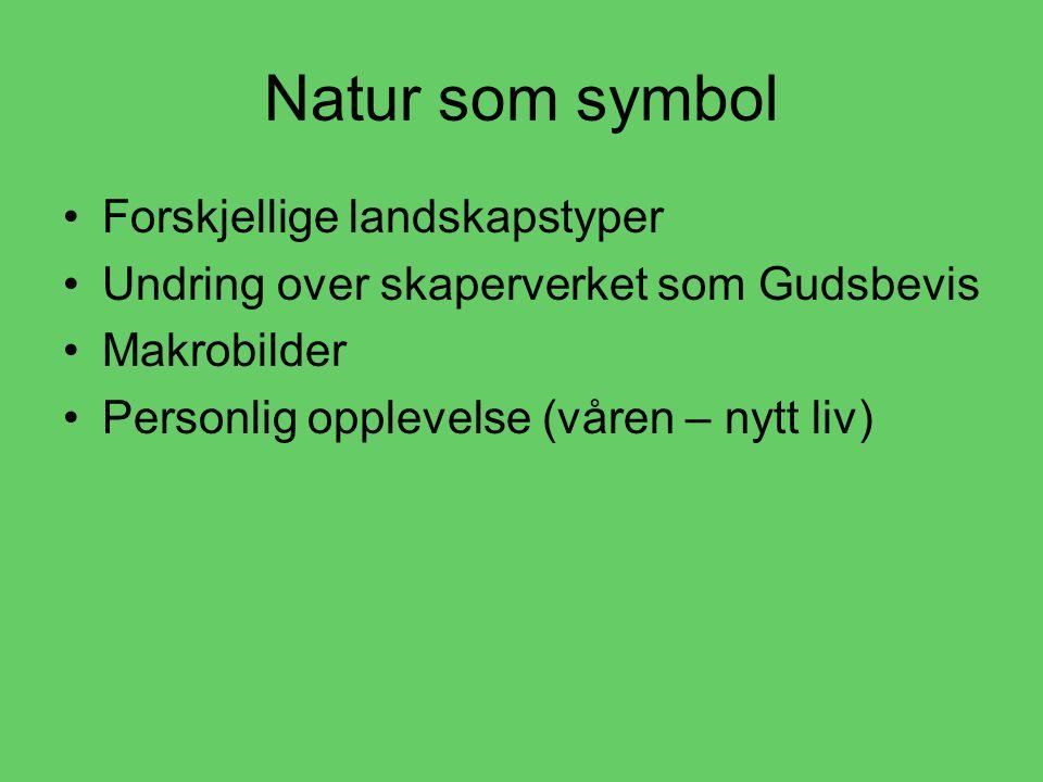 Natur som symbol Forskjellige landskapstyper