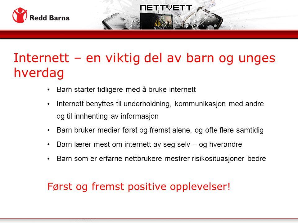 Internett – en viktig del av barn og unges hverdag