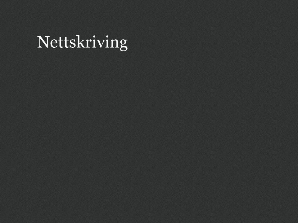 Nettskriving