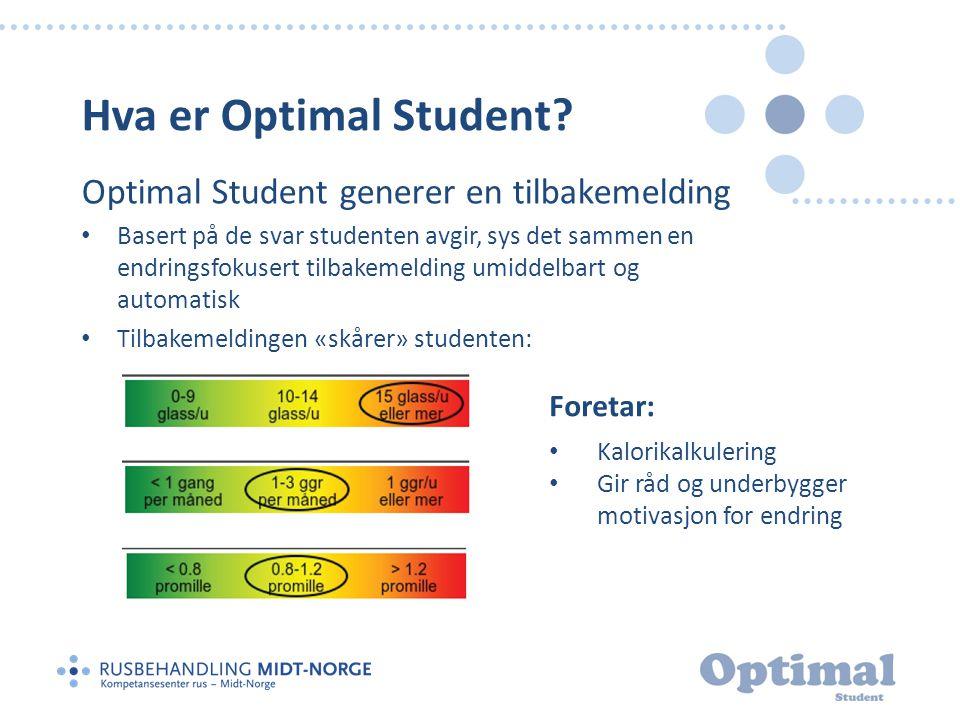 Hva er Optimal Student Optimal Student generer en tilbakemelding