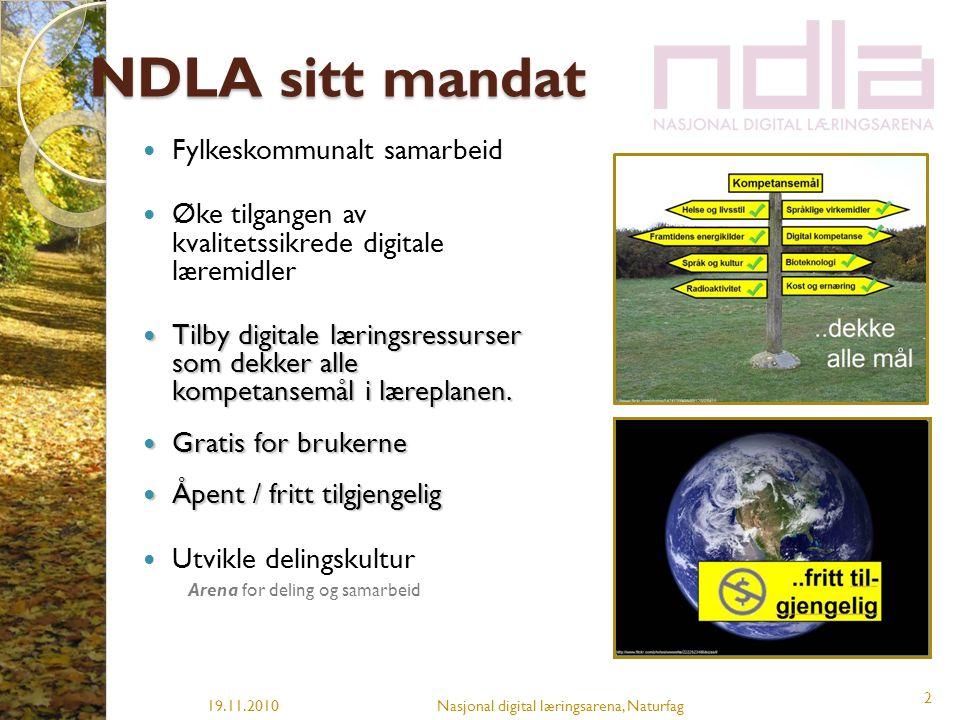 NDLA sitt mandat Fylkeskommunalt samarbeid