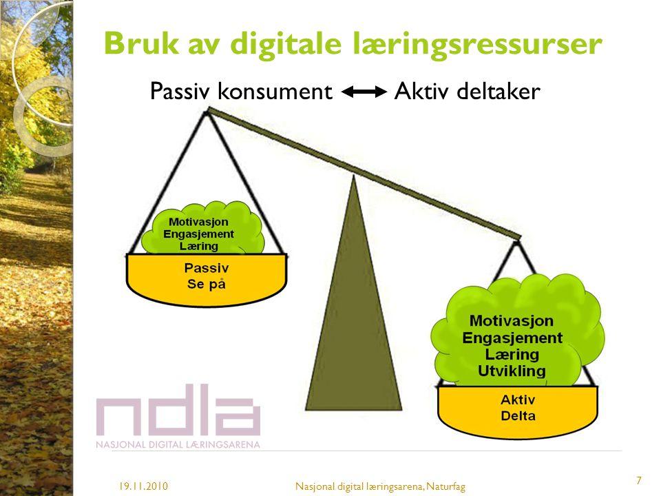 Bruk av digitale læringsressurser