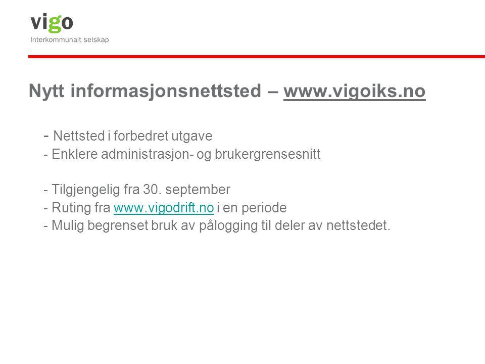 Nytt informasjonsnettsted – www.vigoiks.no