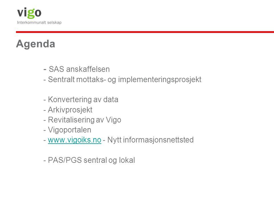 Agenda - SAS anskaffelsen