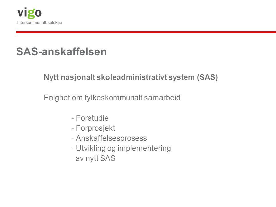 SAS-anskaffelsen Nytt nasjonalt skoleadministrativt system (SAS)