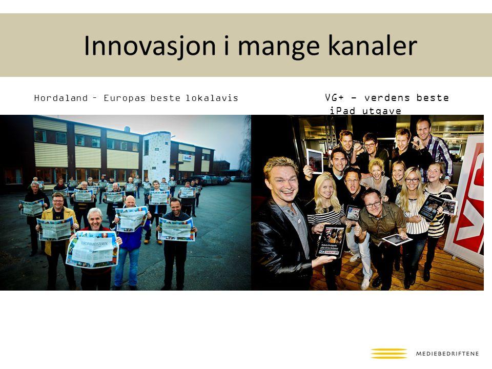 Innovasjon i mange kanaler