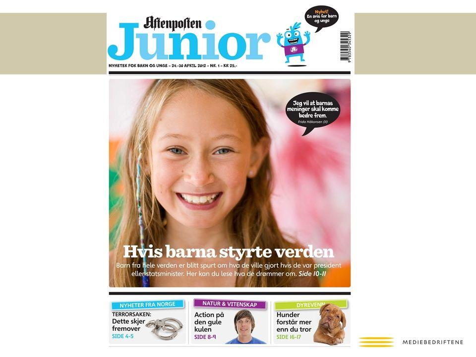 Aftenposten junior – en ukeavis rettet mot barn og ung ungdom