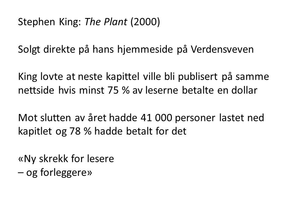 Stephen King: The Plant (2000)