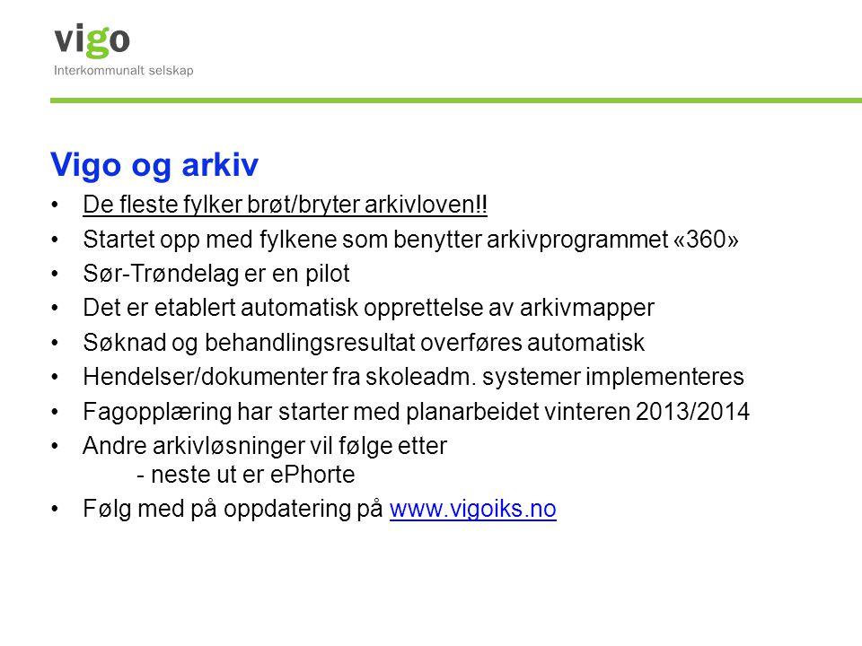 Vigo og arkiv De fleste fylker brøt/bryter arkivloven!!