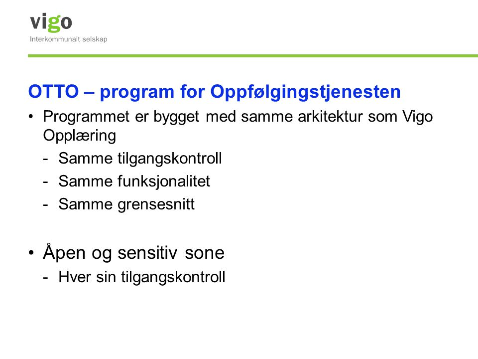 OTTO – program for Oppfølgingstjenesten