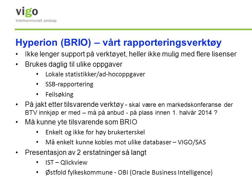 Hyperion (BRIO) – vårt rapporteringsverktøy