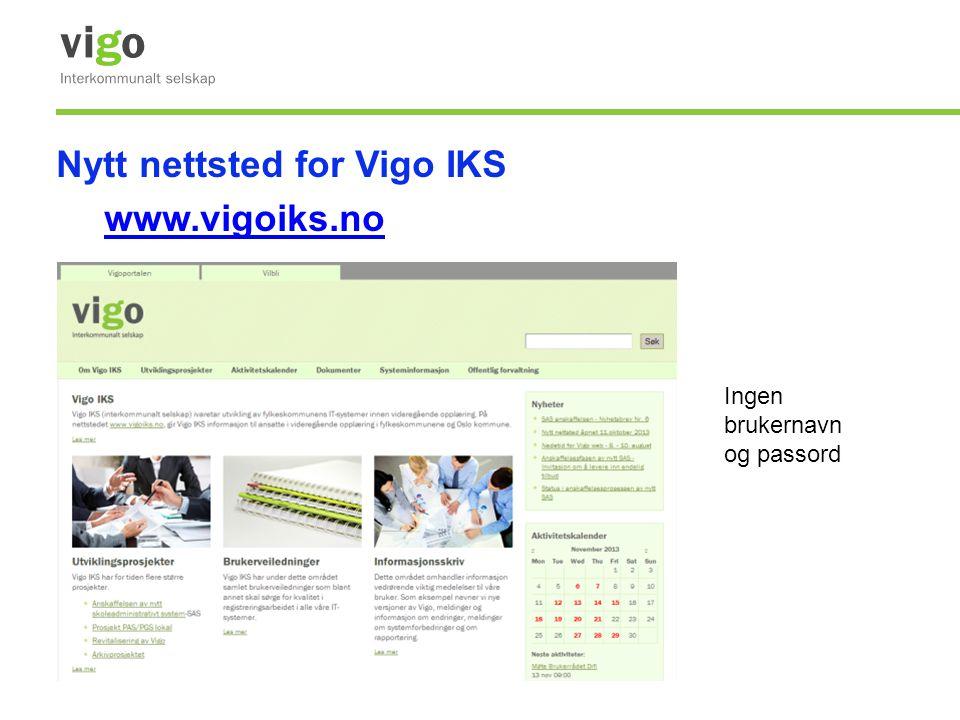 Nytt nettsted for Vigo IKS www.vigoiks.no
