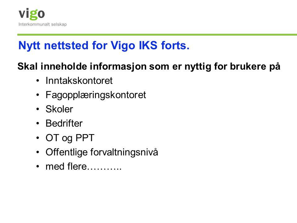 Nytt nettsted for Vigo IKS forts.