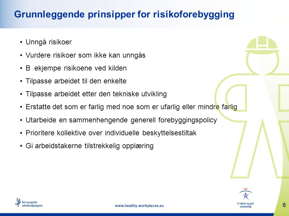 Grunnleggende prinsipper for risikoforebygging