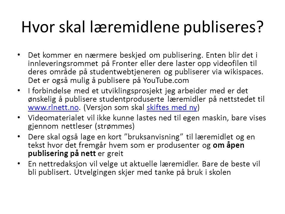 Hvor skal læremidlene publiseres