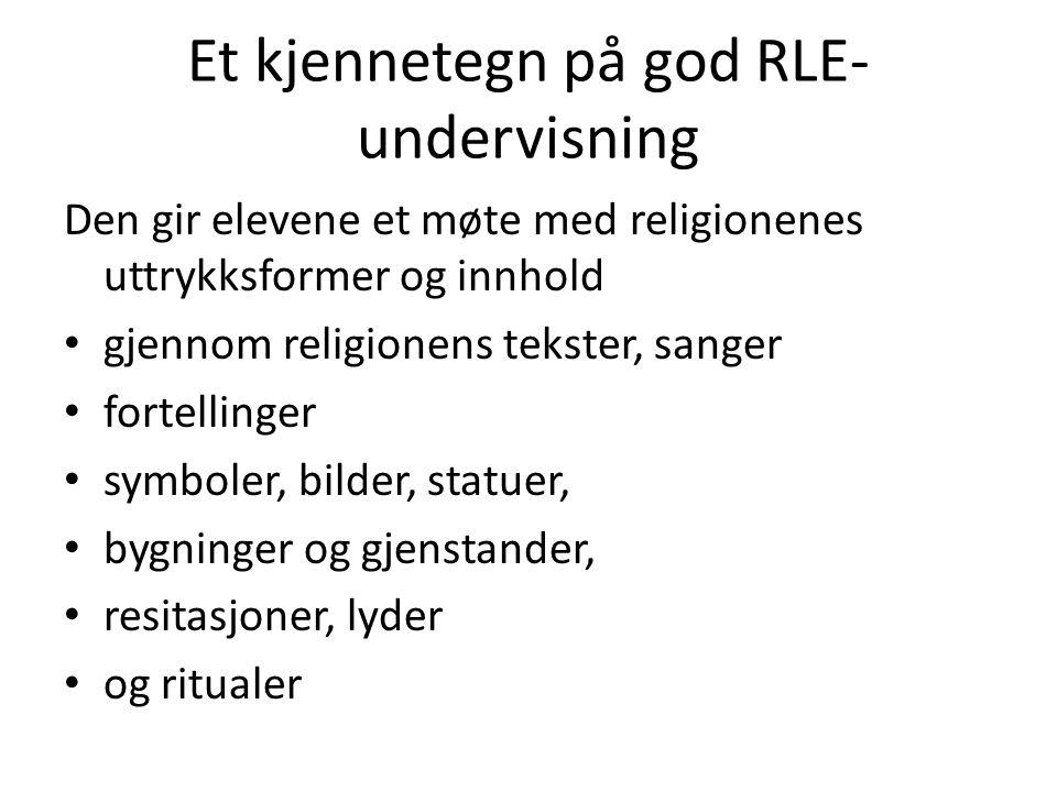 Et kjennetegn på god RLE-undervisning