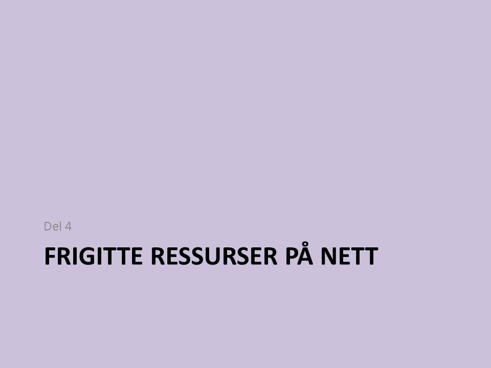 Frigitte ressurser på nett
