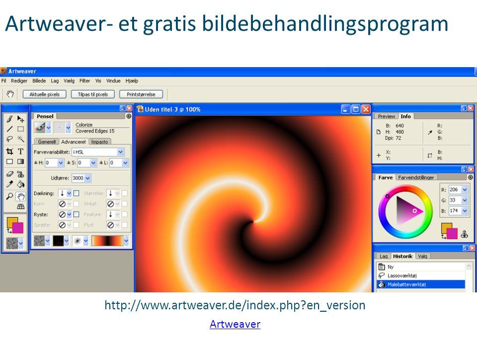 Artweaver- et gratis bildebehandlingsprogram
