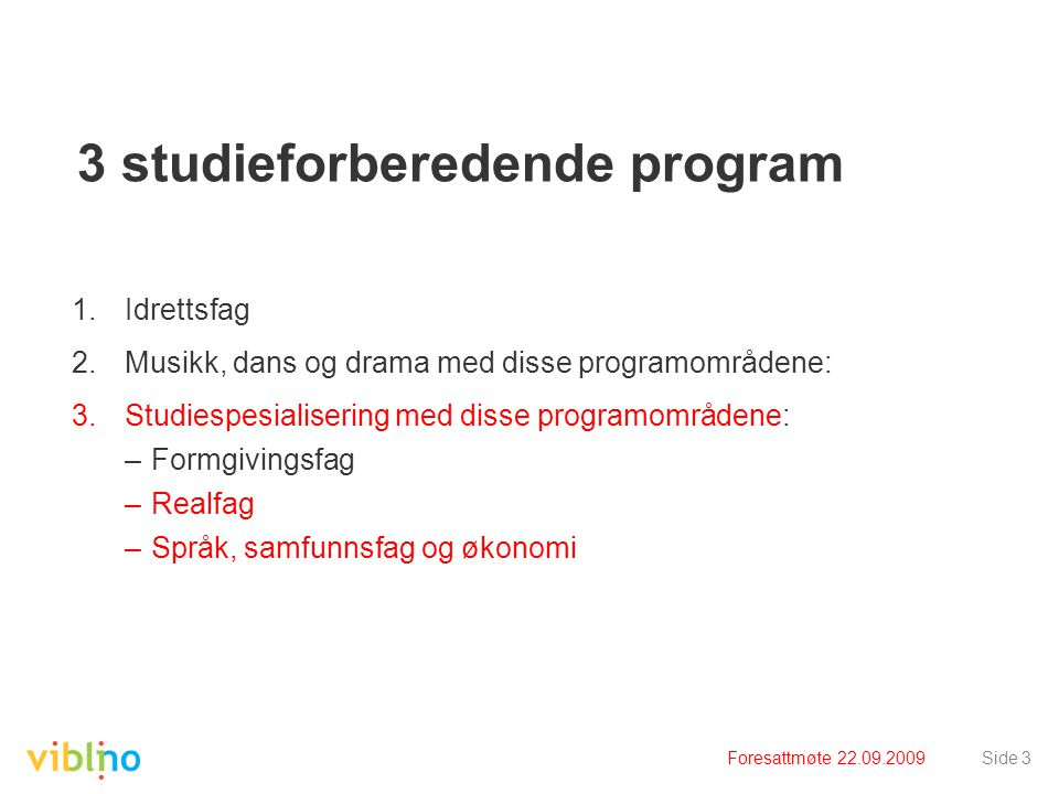 3 studieforberedende program