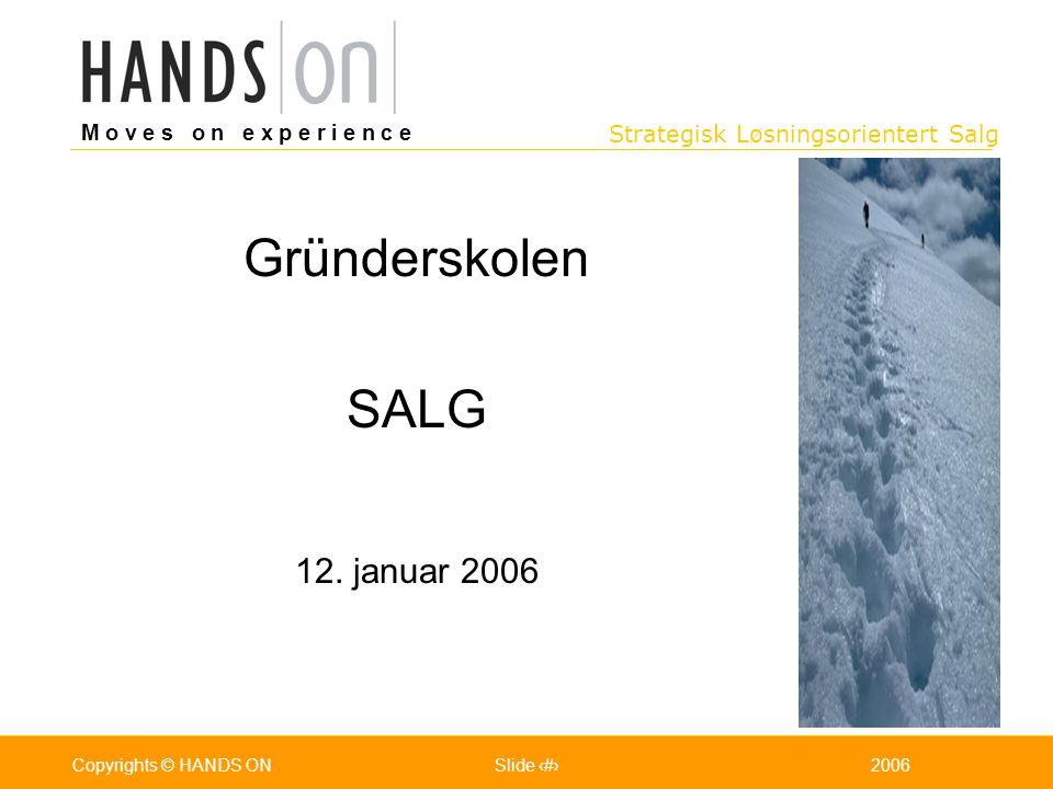 Gründerskolen SALG 12. januar 2006