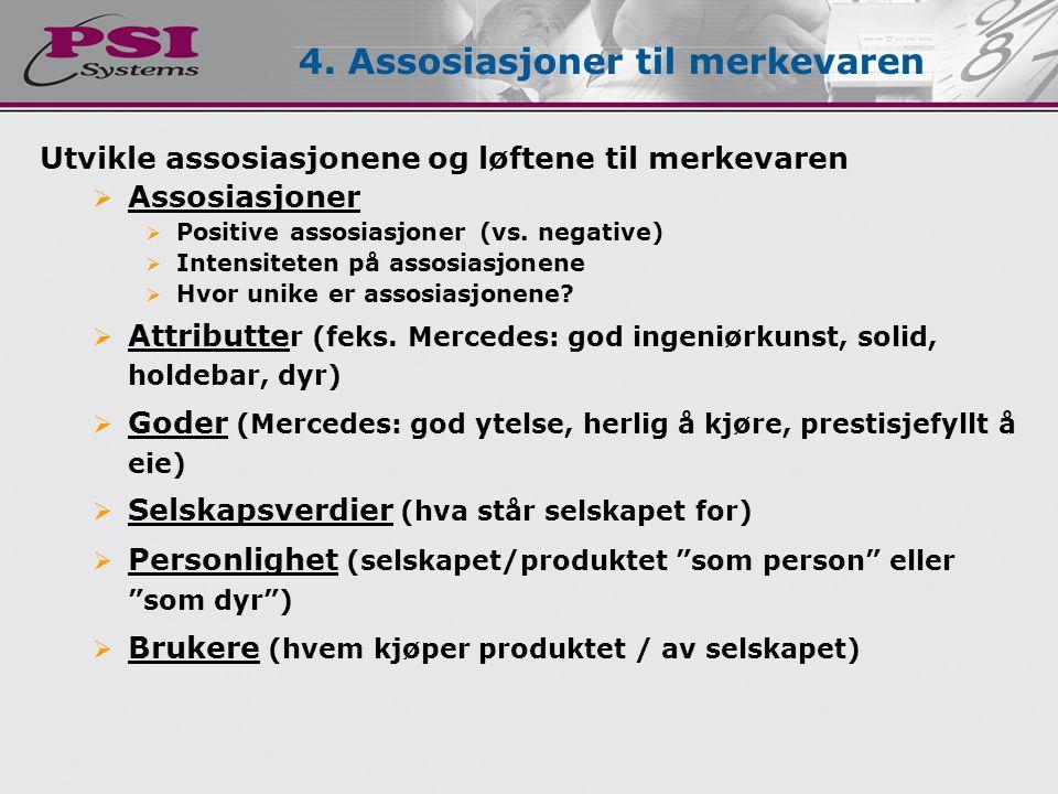 4. Assosiasjoner til merkevaren