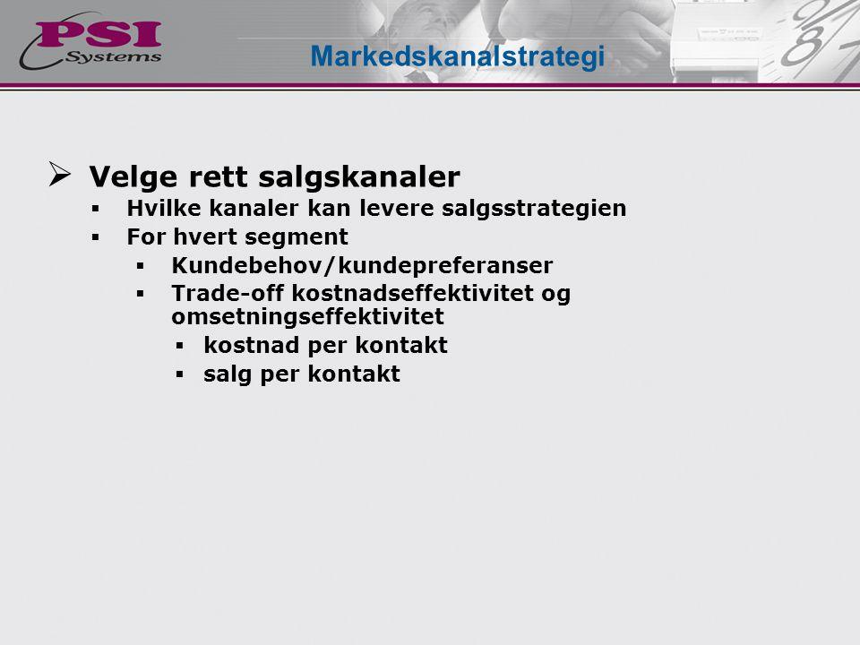 Markedskanalstrategi