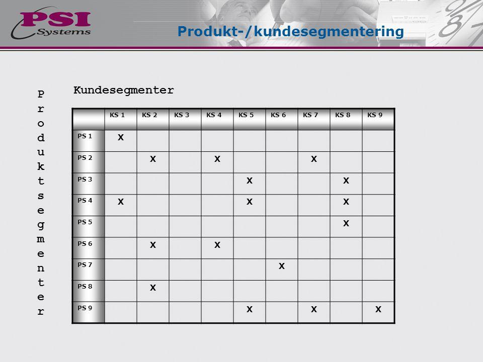 Produkt-/kundesegmentering