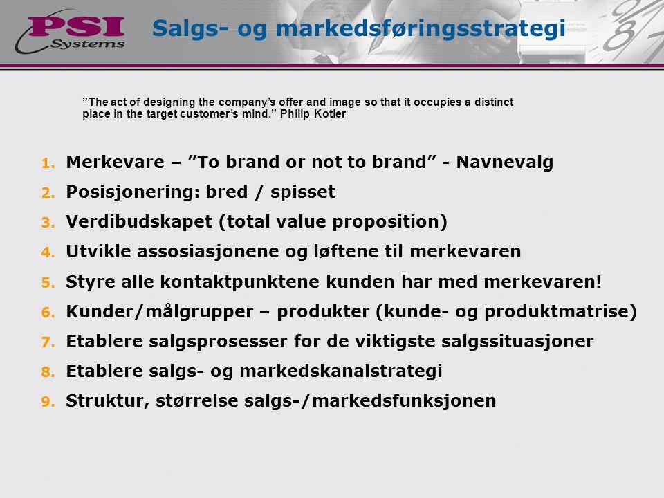 Salgs- og markedsføringsstrategi