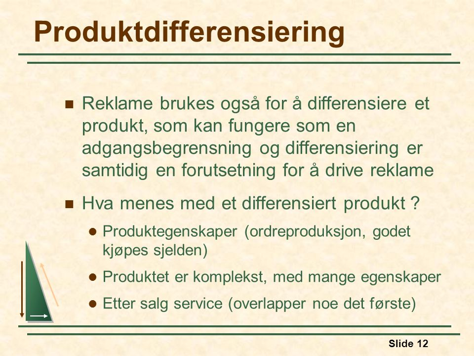 Produktdifferensiering
