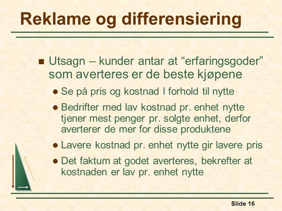 Reklame og differensiering