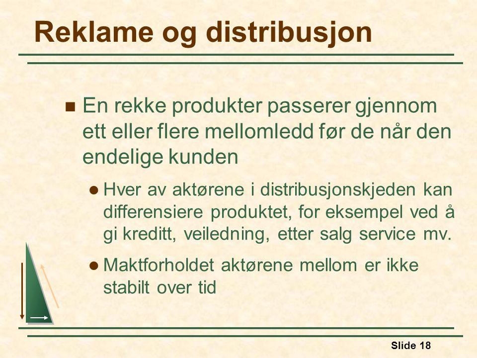 Reklame og distribusjon