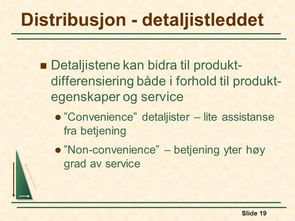 Distribusjon - detaljistleddet