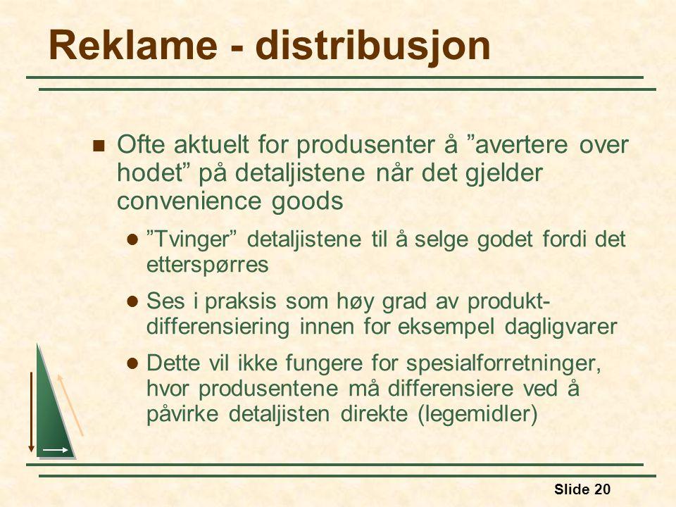 Reklame - distribusjon