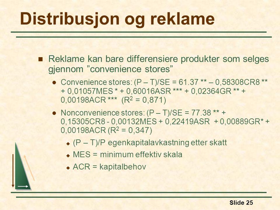 Distribusjon og reklame
