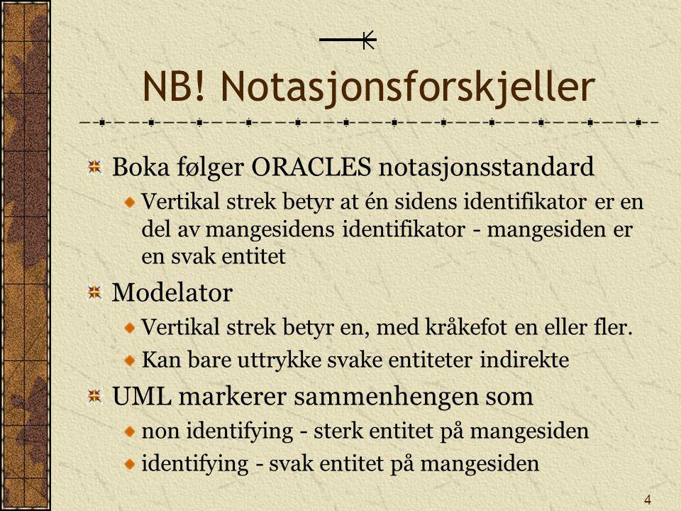 NB! Notasjonsforskjeller